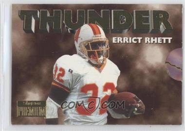 1996 Skybox Premium Thunder & Lightning #9 - Errict Rhett, Trent Dilfer