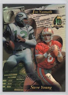 1996 Topps - [Base] #N/A - Steve Young, Joe Namath