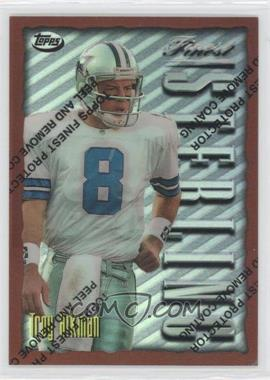 1996 Topps Finest Refractor #134 - Troy Aikman