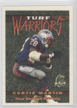 1996 Topps Turf Warriors #TW10 - Curtis Martin