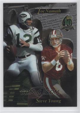 1996 Topps #N/A - Joe Namath, Steve Young