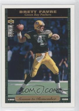 1996 Upper Deck Collector's Choice Green Bay Packers #GB31 - Brett Favre