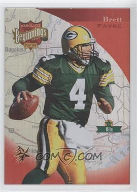 1997 Absolute Beginnings Gold Redemption #151 - Brett Favre