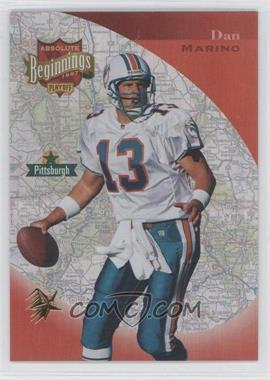 1997 Absolute Beginnings Gold Redemption #153 - Dan Marino