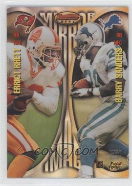 1997 Bowman's Best - Mirror Image - Refractor #MI5 - Errict Rhett, Barry Sanders, Thurman Thomas, Curtis Martin