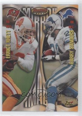 1997 Bowman's Best Mirror Image Refractor #MI5 - Errict Rhett, Barry Sanders, Thurman Thomas, Curtis Martin
