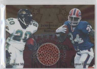1997 Collector's Edge Masters Gameball #1 - Natrone Means, Thurman Thomas