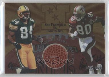 1997 Collector's Edge Masters Gameball #15 - Andre Rison, Jerry Rice