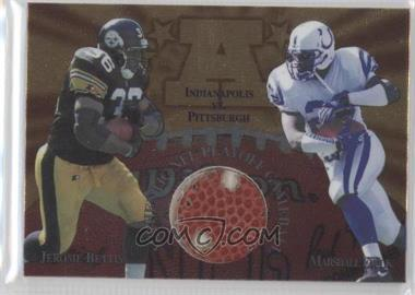 1997 Collector's Edge Masters Gameball #3 - Jerome Bettis, Marshall Faulk