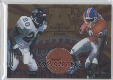 1997 Collector's Edge Masters Gameball #5 - Natrone Means, Terrell Davis