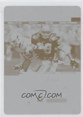 1997 Pinnacle - [Base] - Printing Plate Cyan Back #100 - Curtis Martin /1