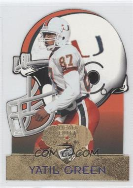 1997 Press Pass Head Butt Die-Cut #HB 6 - Yatil Green