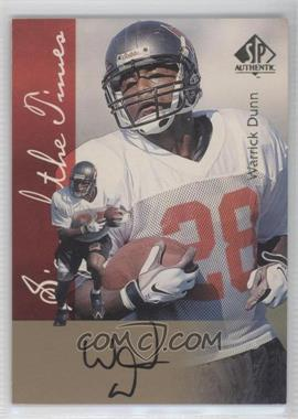 1997 SP Authentic [???] #N/A - Warrick Dunn