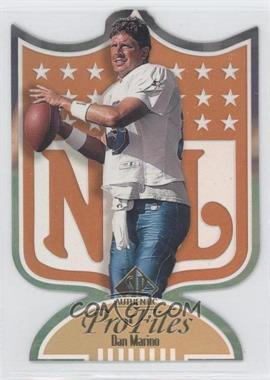 1997 SP Authentic Profiles Die-Cut #P-1 - Dan Marino
