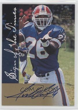 1997 SP Authentic Sign of the Times #ANSM - Antowain Smith