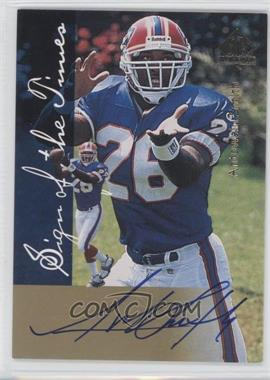 1997 SP Authentic Sign of the Times #N/A - Antowain Smith