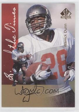 1997 SP Authentic Sign of the Times #WADU - Warrick Dunn