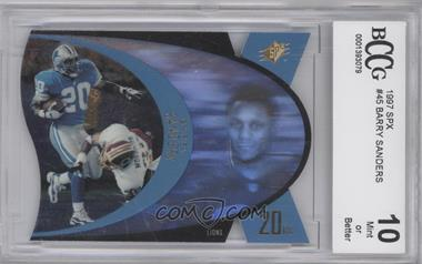 1997 SPx #SPX45 - Barry Sanders [ENCASED]