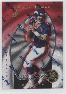 1997 Totally Certified - [Base] - Platinum Red #10 - John Elway /4999