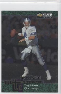 1997 Upper Deck Collector's Choice Turf Champions #TC83 - Troy Aikman