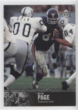 1997 Upper Deck NFL Legends Autographs #AL-58 - Alan Page