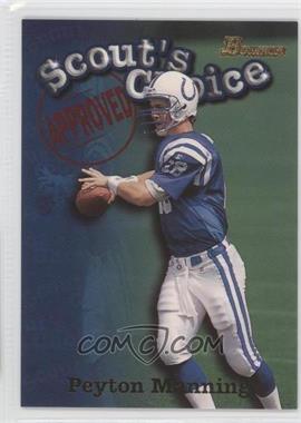 1998 Bowman Scout's Choice #SC1 - Peyton Manning
