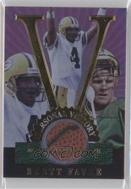 1998 Collector's Edge Advantage - Personal Victory - Media Samples #3 - Brett Favre