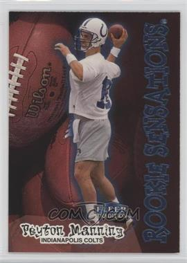1998 Fleer Tradition Rookie Sensations #9RS - Peyton Manning
