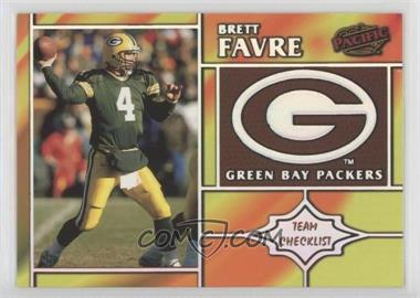 1998 Pacific - Team Checklists #11 - Brett Favre