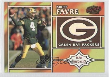 1998 Pacific Team Checklists #11 - Brett Favre