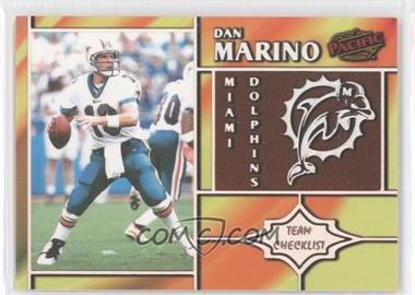 1998 Pacific Team Checklists #15 - Dan Marino