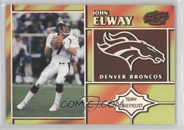 1998 Pacific Team Checklists #9 - John Elway