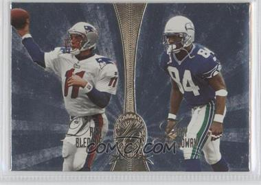 1998 Playoff Absolute Retail - Platinum Quads #8 - Drew Bledsoe, Joey Galloway, Tim Brown, Fred Lane