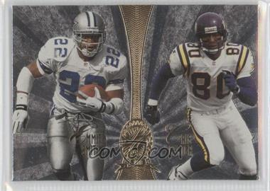 1998 Playoff Absolute Retail Platinum Quads #11 - Emmitt Smith, Cris Carter, Junior Seau, Danny Kanell