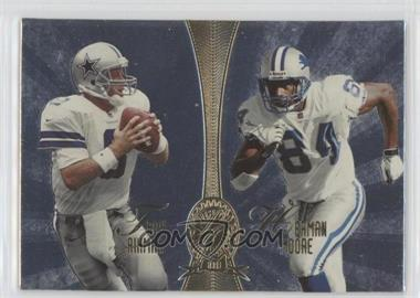 1998 Playoff Absolute Retail Platinum Quads #4 - Troy Aikman, Herman Moore, Mark Chmura, Gus Frerotte