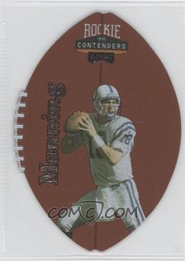 1998 Playoff Contenders - Leather Footballs - Silver #37 - Peyton Manning