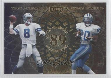 1998 Playoff Momentum SSD Class Reunion Quads #N/A - Troy Aikman, Barry Sanders, Deion Sanders, Andre Rison