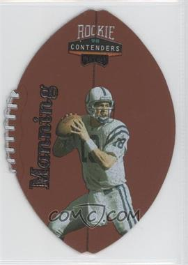 1998 Playoff Momentum/Contenders Leather Footballs Silver #37 - Peyton Manning