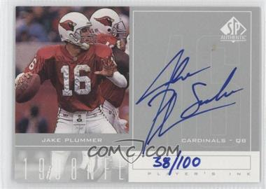 1998 SP Authentic - Player's Ink - Silver #JP - Jake Plummer /100