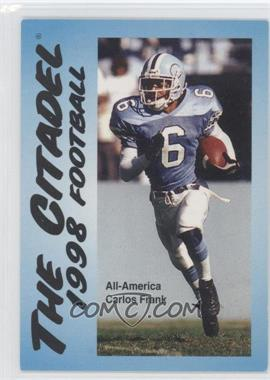1998 The Citadel Bulldogs Schedule Card - [Base] #N/A - [Missing]