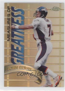 1998 Topps Chrome Measures of Greatness Refractor #MG1 - John Elway