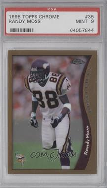 1998 Topps Chrome #35 - Randy Moss [PSA 9]
