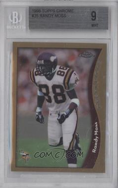 1998 Topps Chrome #35 - Randy Moss [BGS 9]