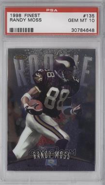 1998 Topps Finest - [Base] #135 - Randy Moss [PSA10]