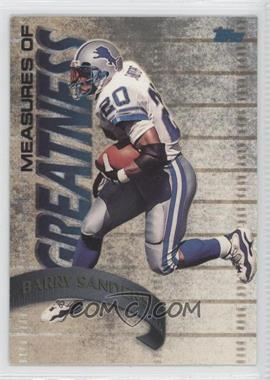 1998 Topps Measures of Greatness #MG10 - Barry Sanders