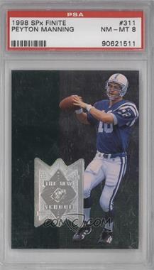1998 Upper Deck SPx Finite - [Base] #311 - Peyton Manning /4000 [PSA8]