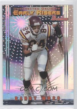 1999 Bowman Unexpected Delights #U5 - Early Risers - Randy Moss