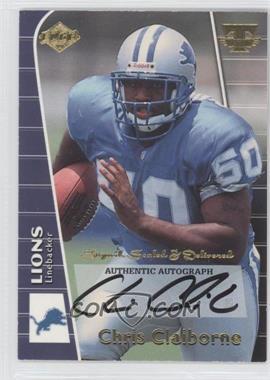 1999 Collector's Edge Triumph - Signed, Sealed & Delivered #CC - Chris Claiborne