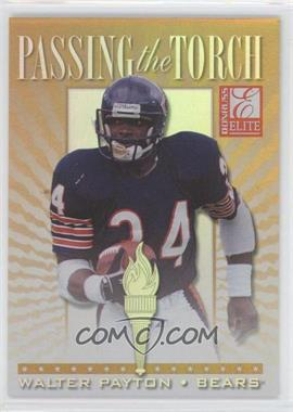 1999 Donruss Elite Passing the Torch #4 - Walter Payton, Barry Sanders /1500