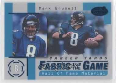 1999 Leaf Certified - Fabric of the Game #FG57 - Mark Brunell /250